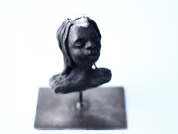 thumbnail galerie sculpture raku femme Himba terres ethniques by Anne Requillart