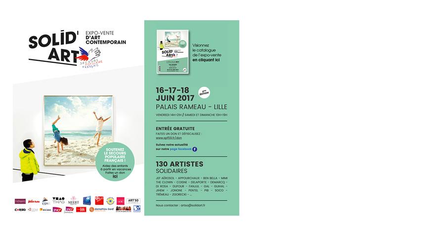 Solid'Art 2017 Carton d'invitation pour l'Exposition au Palais Rameau à Lille