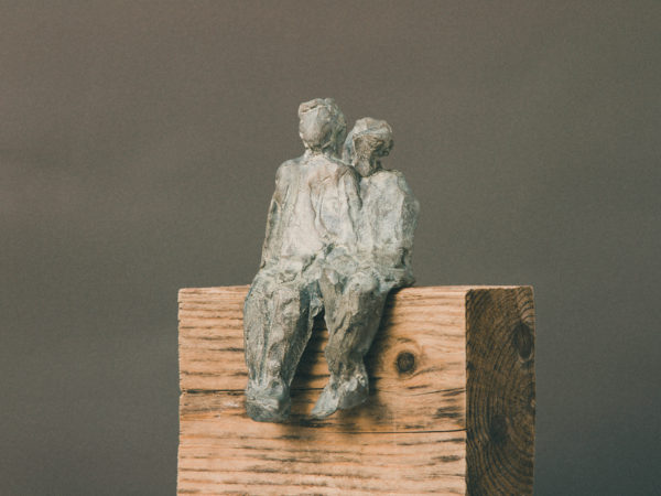 thumbnail galerie sculpture bronze Ensemble 2 terres ethniques by Anne Requillart