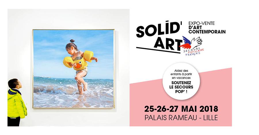 Exposition Solid'Art mai 2018 Carton d'invitation pour l'Exposition au Palais Rameau à Lille