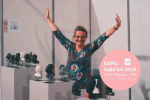Stand de la sculpteur Anne Requillart pour l'Exposition Solid'Art 2018 au Palais Rameau à Lille