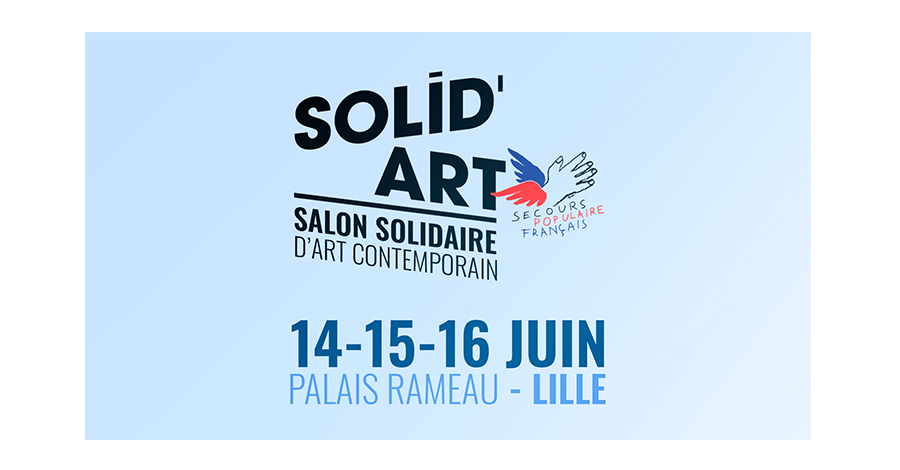 Exposition Solid'Art Juin 2019 Carton d'invitation pour l'Exposition au Palais Rameau à Lille
